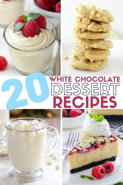 20 White Chocolate Recipes You Need To Try featured by top US craft blog, The Crafty Blog Stalker.