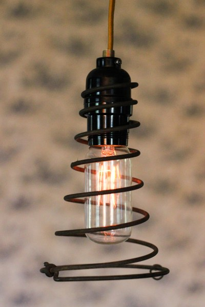 Bed Spring Pendant Light