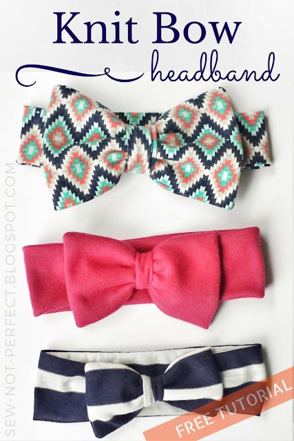 20 Crafty Headband Tutorials, featured by top US craft blog, The Crafty Blog Stalker: Knit Bow Headband