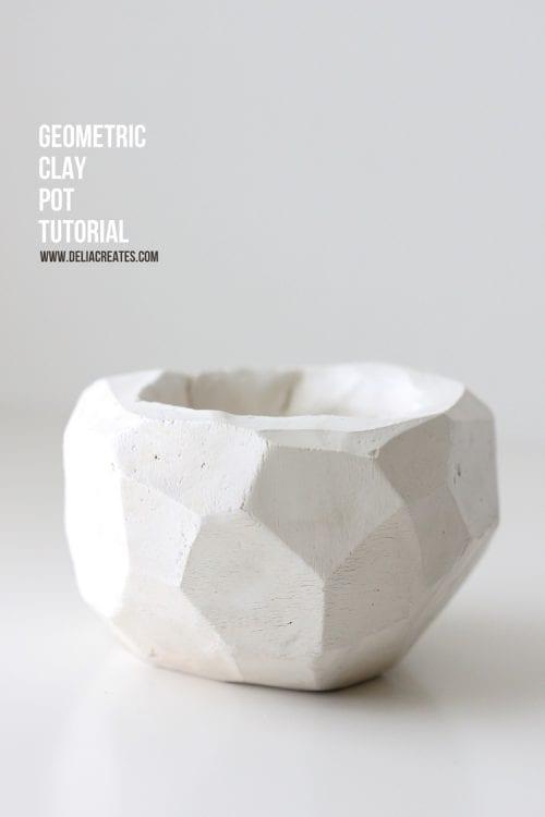 Geometric Clay Pot