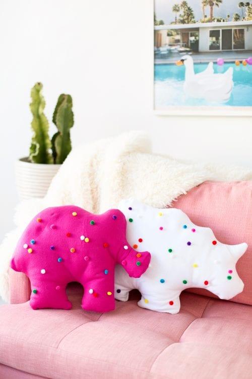 Circus Animal Cookie Pillow