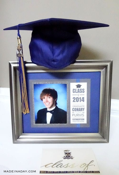 20 Handmade DIY Graduation Gifts, featured by top US craft blog, The Crafty Blog Stalker: Matted Graduation Keepsake