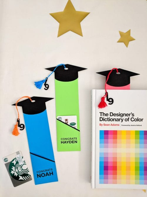 20 Handmade DIY Graduation Gifts, featured by top US craft blog, The Crafty Blog Stalker: Gift Card Holder Book Mark