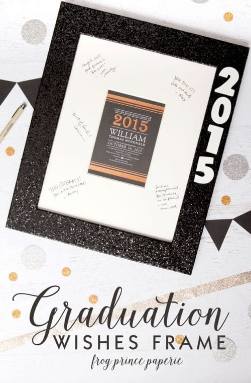 20 Handmade DIY Graduation Gifts, featured by top US craft blog, The Crafty Blog Stalker: Graduation Wishes Frame