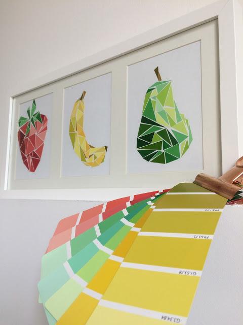 Collage Color Fruit Art