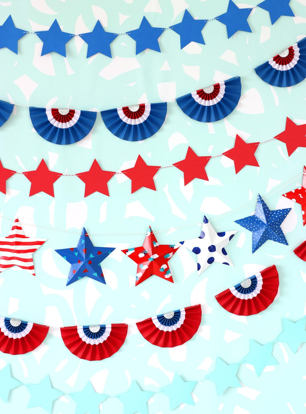Patriotic Paper Bunting Banners