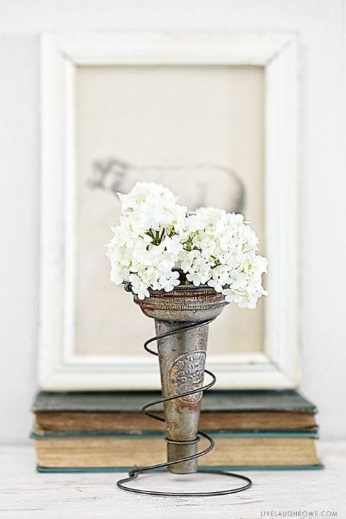 Bed Spring Vase Holder