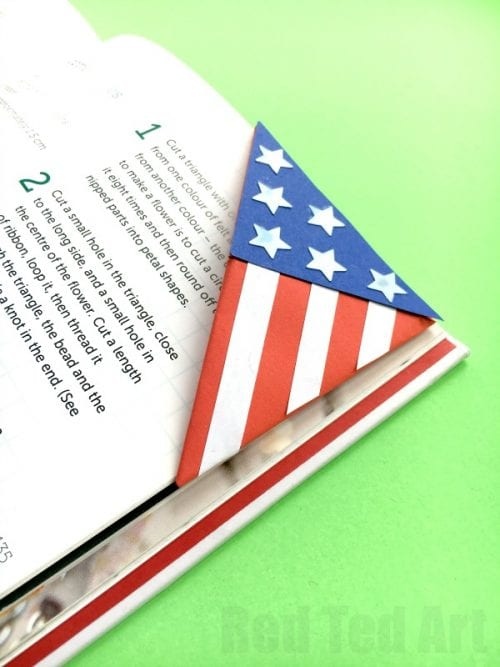 American Flag Bookmark