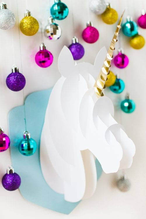 3D Paper Unicorn Head