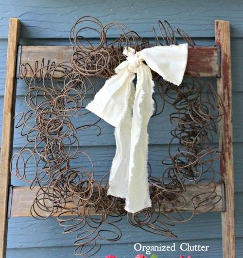 A Fun Surprise Rusty Spring Wreath