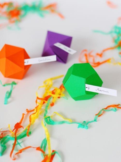 Geometric Party Favor Boxes