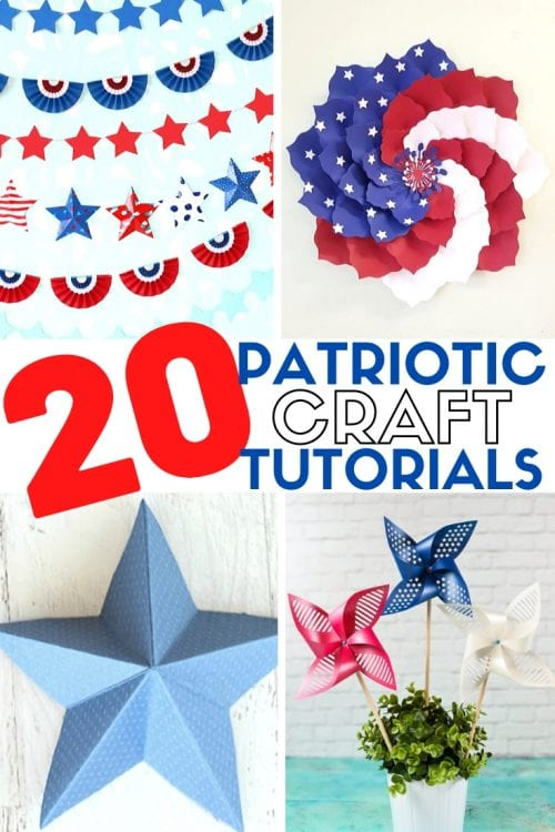 20 DIY Red White and Blue Craft Ideas with Paper