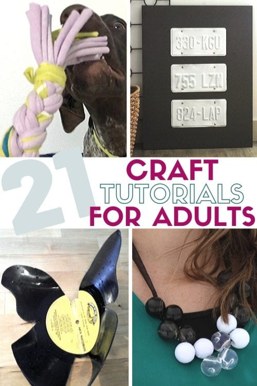 21 Easy Crafts for Adults to Make with 5 Supplies or Less, featured by top US craft blog, The Crafty Blog Stalker.