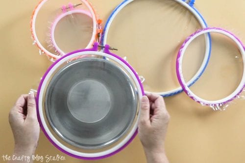 Embroidery Hoop Bowl Covers