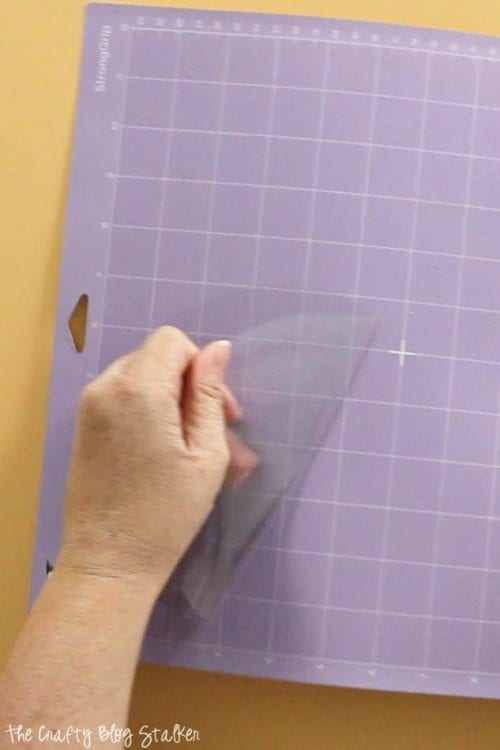 removing a cut circle from the StrongGrip cutting mat