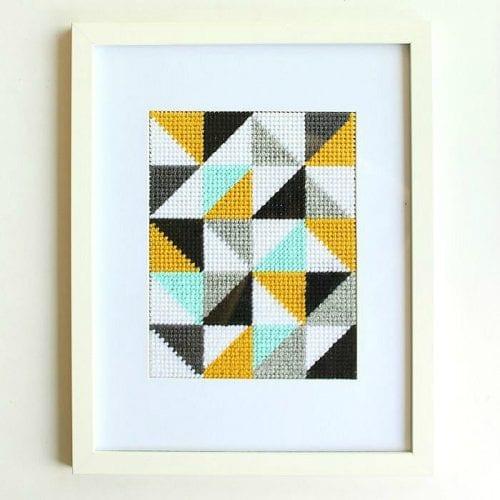 Geometric Embroidery Art