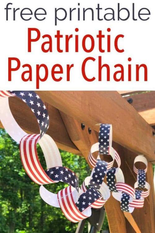 Free Printable Patriotic Paper Chain