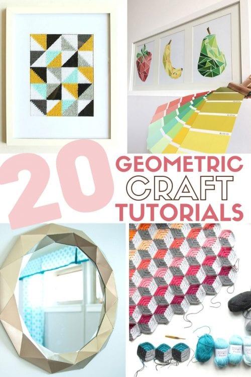 20 DIY Geometric Decor and Craft Ideas
