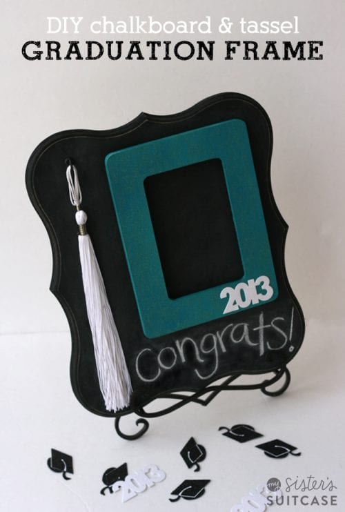 20 Handmade DIY Graduation Gifts, featured by top US craft blog, The Crafty Blog Stalker: Chalkboard and Tassel Frame