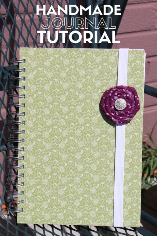 Title image for How to Make a Journal Step by Step showing the finished journal