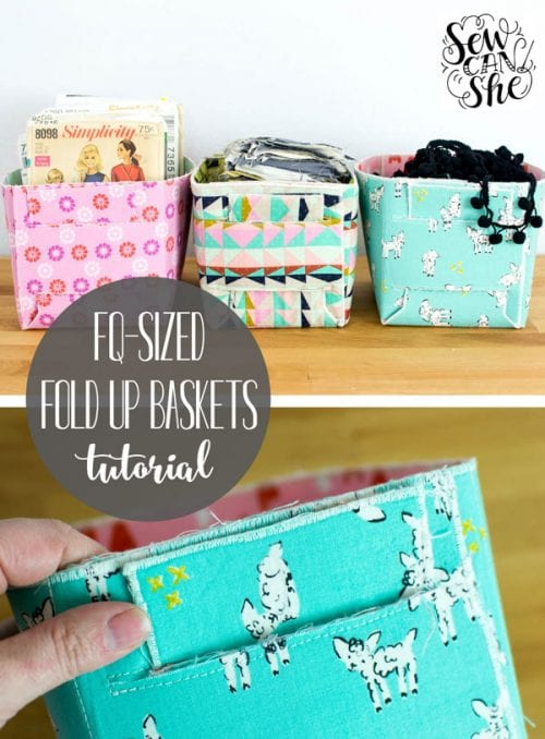 Sew a Fat Quarter-Sized Fold Up Basket