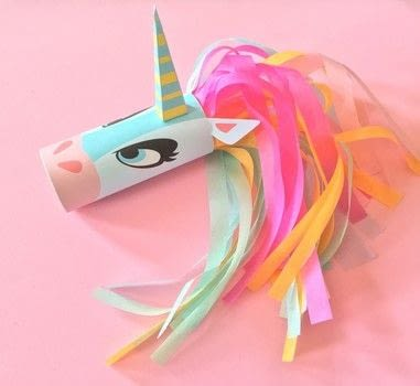 Unicorn Head Toilet Tube Craft Printable