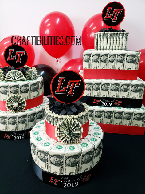 20 Handmade DIY Graduation Gifts, featured by top US craft blog, The Crafty Blog Stalker: Graduation Money Cake