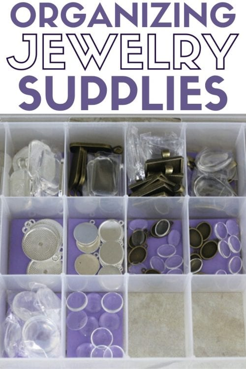 How to Organize Your Jewelry Making Supplies, a tutorial featured by top US craft blog, The Crafty Blog Stalker.