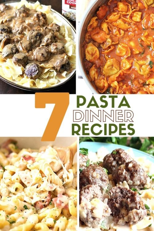 7 Delicious Pasta Dinner Recipes, featured by top US craft blog, The Crafty Blog Stalker.