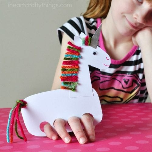 Playful Unicorn Finger Puppet