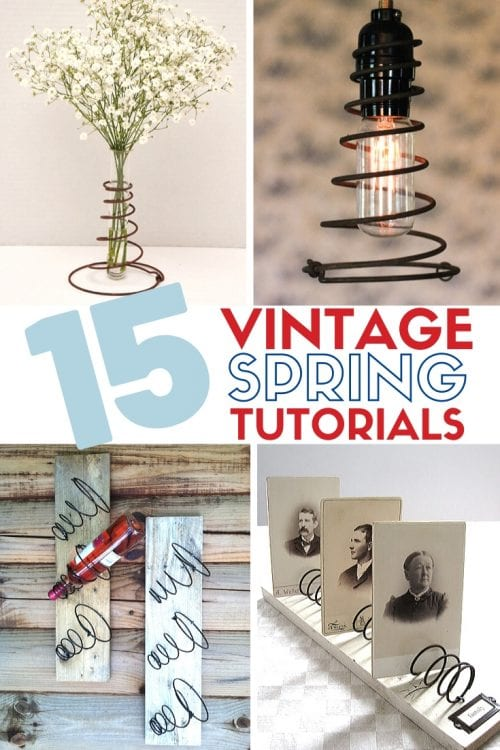How to Make 15 DIY Vintage Bed Spring Projects