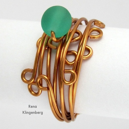 Wrapped Stacked Wire Ring
