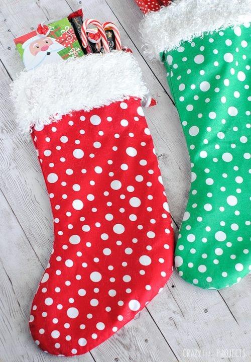 10 Minute Christmas Stocking