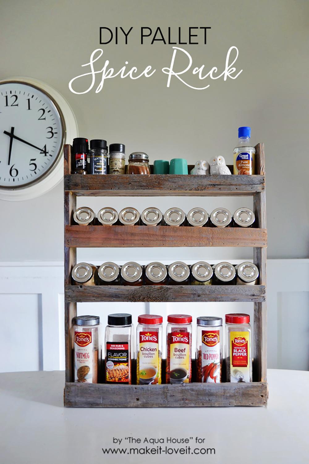 image of DIY Pallet Spice Rack