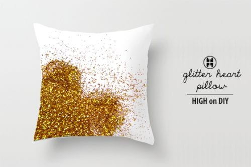 Glitter Heart Pillow