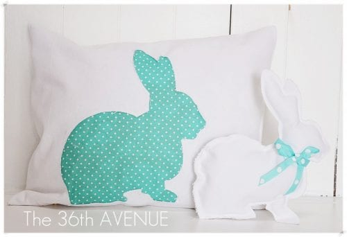Reversed Pillow Tutorial and Bunny