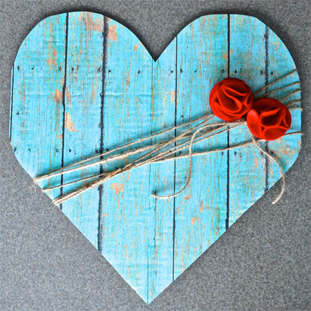 Faux Wood Heart