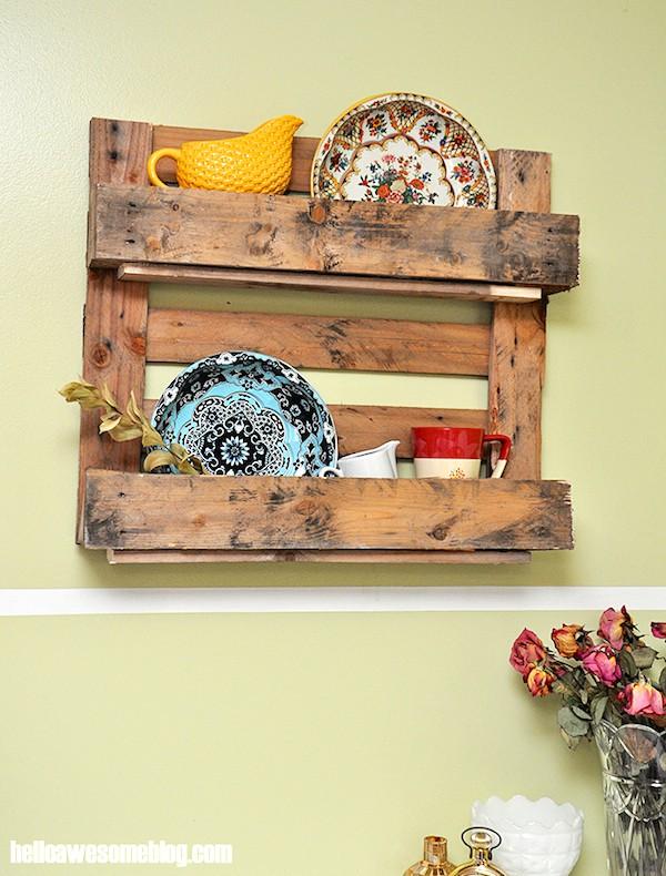 image of Decorative Pallet Shelf