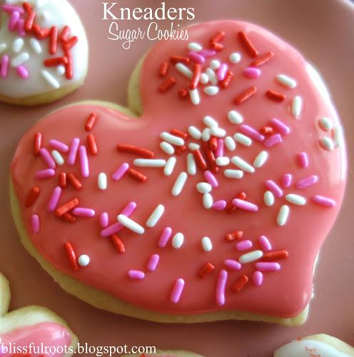 Kneter Herz Zuckerplätzchen
