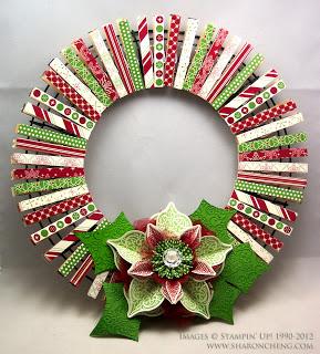 Weihnachtswäscheklammerkranz