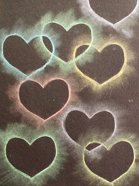 Heart Chalk Stencil Art