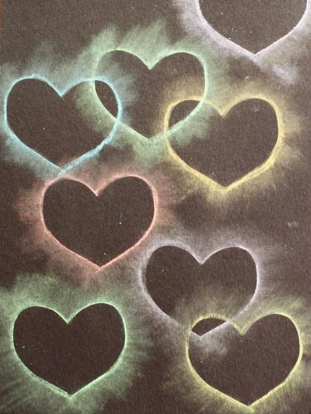 Herz Kreide Schablone Art