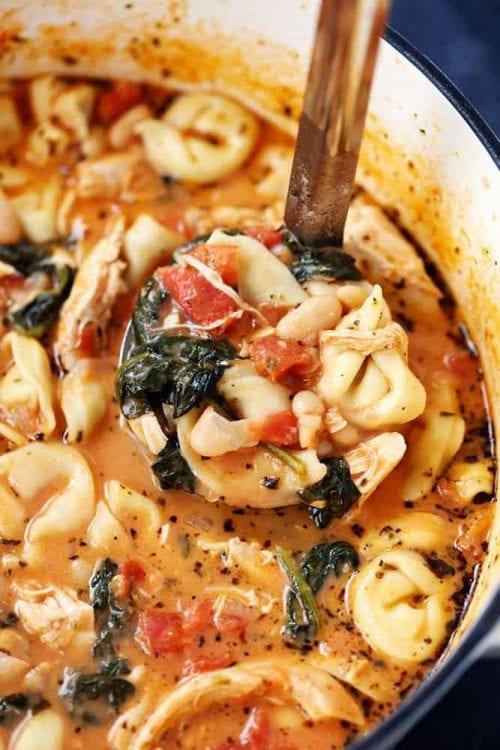 Creamy Tuscan Garlic Tortellini Soup