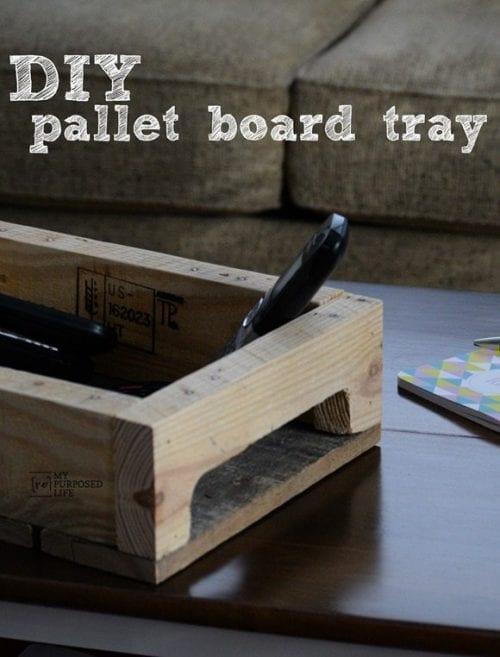 image of DIY Pallet Board Tray
