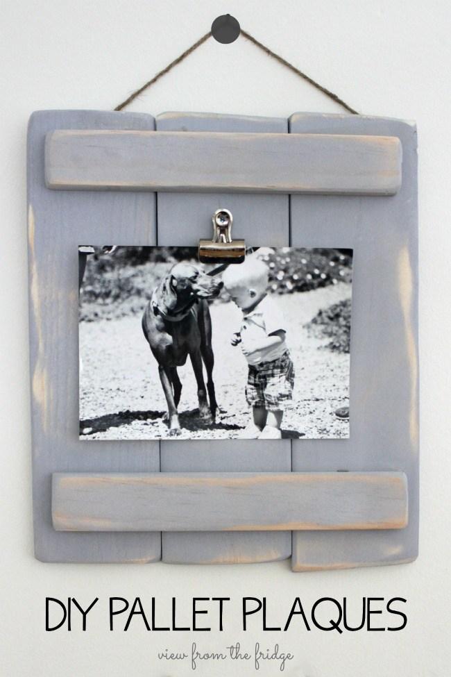 image of DIY Pallet Plaques