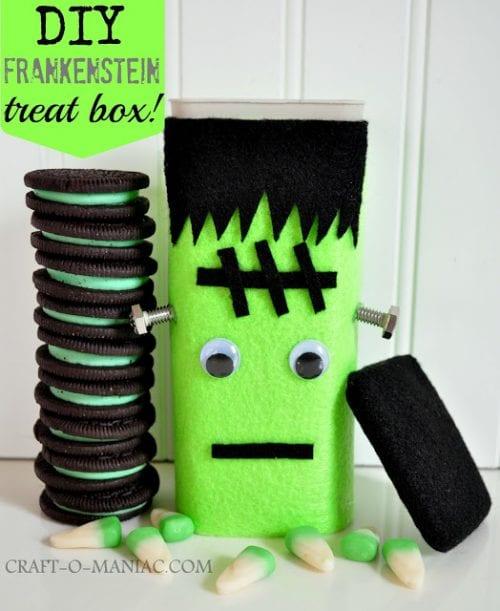 DIY Frankenstein Treat Box