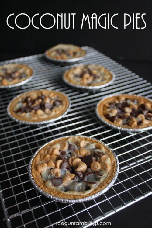 coconut magic cookie pies