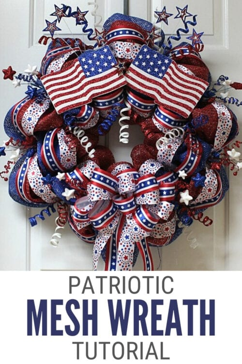title image for How to Make a Patriotic Mesh Wreath