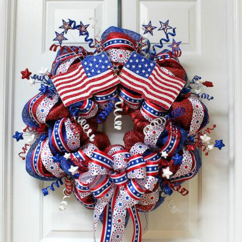 patriotic mesh wreath 31