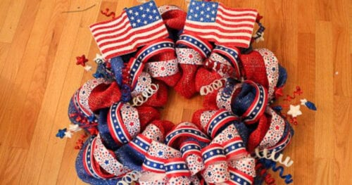 patriotic mesh wreath 32